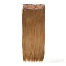 "24"" Golden Brown(#12) One Piece Clip In Synthetic Hair Extensions"