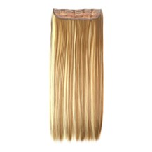 "24"" Golden Mixed(#12/613) One Piece Clip In Synthetic Hair Extensions"