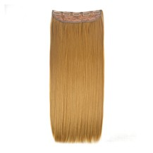 """24"""" Strawberry Blonde(#27) One Piece Clip In Synthetic Hair Extensions"""