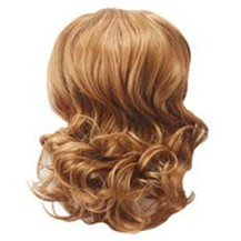 Wavy Hepburn Fluffy Ball Head Bud Head Bun Ponytail Golden Blonde 1 Piece