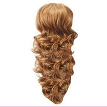 French Romantic Curls Sexy Bud Head Ponytail Goloden Blonde 1 Piece