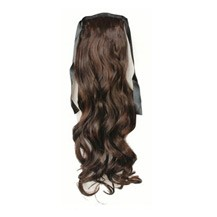 Bundled Long Wavy Ponytail Deep Chectnut Brown 1 Piece