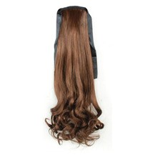 Bundled Fluffy Long Wavy Ponytail Flax Yellow 1 Piece