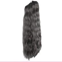 Claw clip Long Corn Curls Ponytail Black 1 Piece