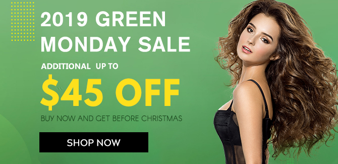 2019 hair extensions Green Monday sale online