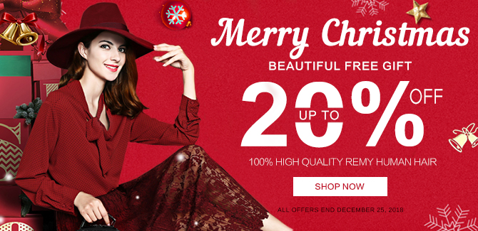 2018 christmas hair extensions sale online