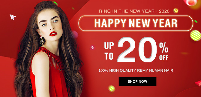 2020 hair extensions Happy New Year sale online