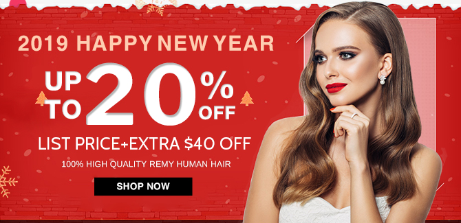 2018 new year hair extensions sale online