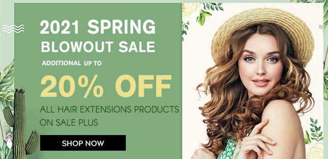 2021 hair extensions Spring Sale online