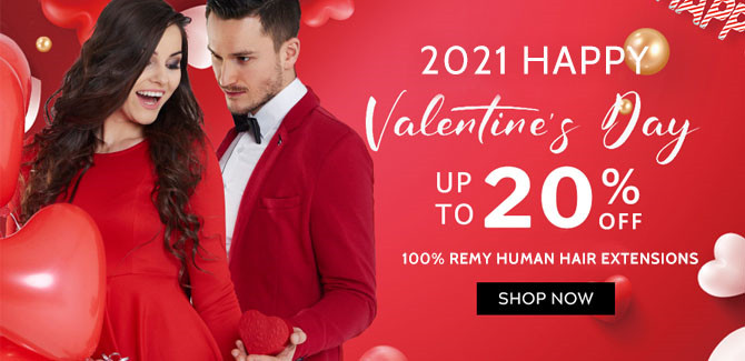 2021 hair extensions Valentine's Day Sale online United Kingdom