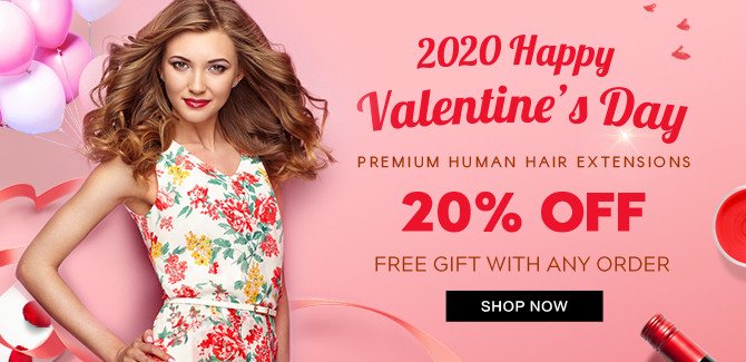 2020 hair extensions Happy Valentine Day sale online United Kingdom