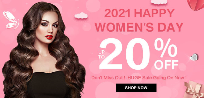 2021 hair extensions Women's Day Sale online