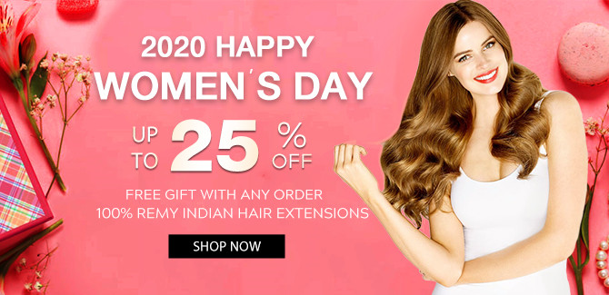 2020 hair extensions Happy Woman Day sale online